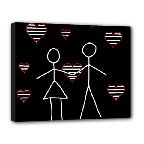 Couple in love Canvas 14  x 11