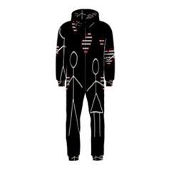 Couple in love Hooded Jumpsuit (Kids)