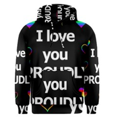 Proudly love Men s Pullover Hoodie