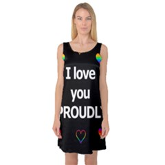Proudly love Sleeveless Satin Nightdress