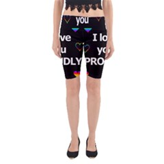 Proudly love Yoga Cropped Leggings