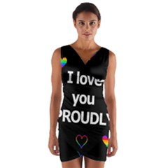 Proudly love Wrap Front Bodycon Dress
