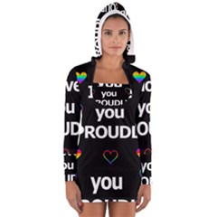 Proudly love Women s Long Sleeve Hooded T-shirt