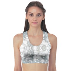 Light Circles, watercolor art painting Sports Bra