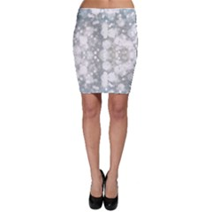 Light Circles, watercolor art painting Bodycon Skirt
