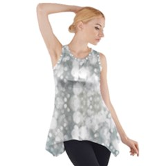 Light Circles, watercolor art painting Side Drop Tank Tunic