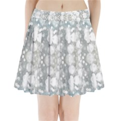 Light Circles, watercolor art painting Pleated Mini Skirt