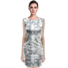 Light Circles, Watercolor Art Painting Sleeveless Velvet Midi Dress