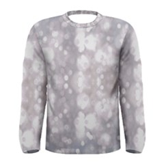 Light Circles, rouge Aquarel painting Men s Long Sleeve Tee