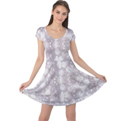 Light Circles, rouge Aquarel painting Cap Sleeve Dresses