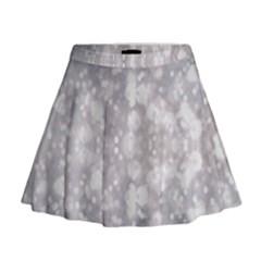 Light Circles, rouge Aquarel painting Mini Flare Skirt