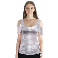 Light Circles, rouge Aquarel painting Butterfly Sleeve Cutout Tee