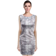 Light Circles, rouge Aquarel painting Sleeveless Velvet Midi Dress