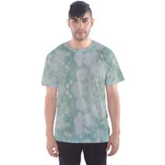 Light Circles, Mint green color Men s Sport Mesh Tee