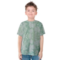 Light Circles, Mint green color Kids  Cotton Tee