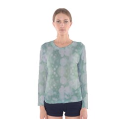 Light Circles, Mint green color Women s Long Sleeve Tee
