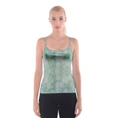 Light Circles, Mint green color Spaghetti Strap Top