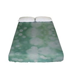 Light Circles, Mint Green Color Fitted Sheet (full/ Double Size)