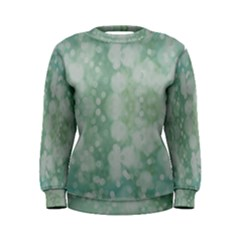 Light Circles, Mint green color Women s Sweatshirt