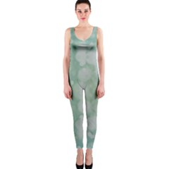 Light Circles, Mint green color OnePiece Catsuit