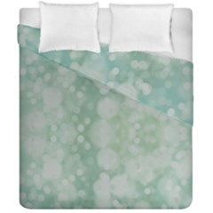 Light Circles, Mint Green Color Duvet Cover Double Side (california King Size)