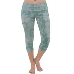 Light Circles, Mint green color Capri Yoga Leggings
