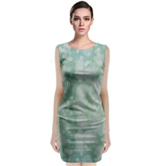 Light Circles, Mint green color Classic Sleeveless Midi Dress