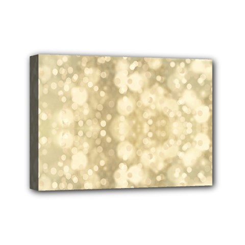 Light Circles, Brown Yellow color Mini Canvas 7  x 5