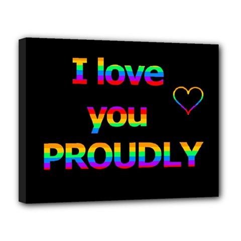 I love you proudly Canvas 14  x 11
