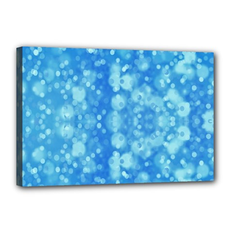 Light Circles, dark and light blue color Canvas 18  x 12