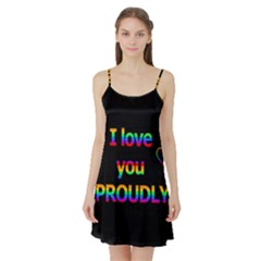 I love you proudly Satin Night Slip