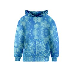 Light Circles, dark and light blue color Kids  Pullover Hoodie