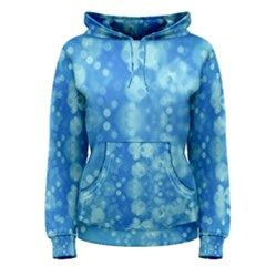 Light Circles, dark and light blue color Women s Pullover Hoodie