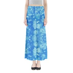 Light Circles, dark and light blue color Maxi Skirts