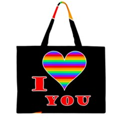 I love you Zipper Large Tote Bag