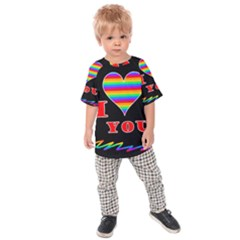 I Love You Kids  Raglan Tee