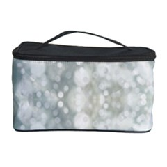 Light Circles, blue gray white colors Cosmetic Storage Case