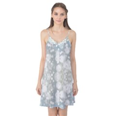 Light Circles, blue gray white colors Camis Nightgown