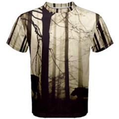 Forest Fog Hirsch Wild Boars Men s Cotton Tee