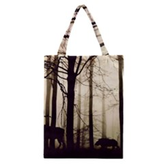 Forest Fog Hirsch Wild Boars Classic Tote Bag