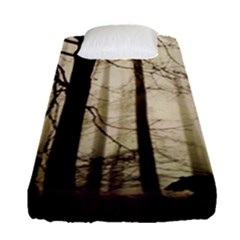 Forest Fog Hirsch Wild Boars Fitted Sheet (Single Size)