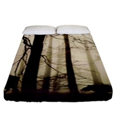 Forest Fog Hirsch Wild Boars Fitted Sheet (King Size)