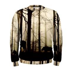 Forest Fog Hirsch Wild Boars Men s Sweatshirt