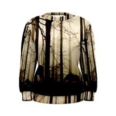 Forest Fog Hirsch Wild Boars Women s Sweatshirt