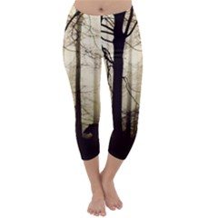Forest Fog Hirsch Wild Boars Capri Winter Leggings
