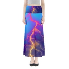 Lightning colors, blue sky, pink orange yellow Maxi Skirts