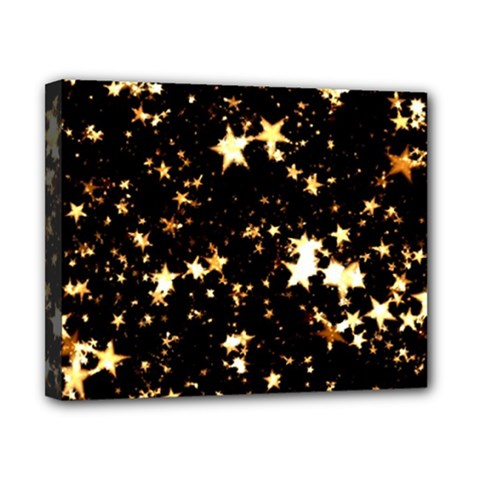 Golden stars in the sky Canvas 10  x 8
