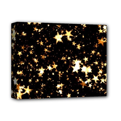 Golden stars in the sky Deluxe Canvas 14  x 11