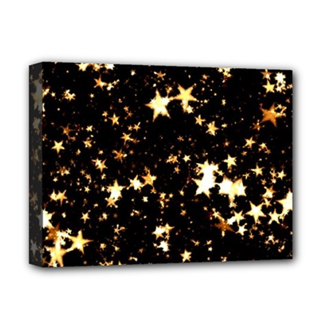 Golden stars in the sky Deluxe Canvas 16  x 12