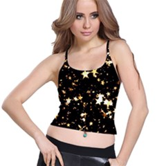 Golden stars in the sky Spaghetti Strap Bra Top